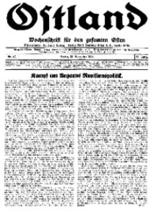 Ostland : Wochenschrift für den gesamten Osten, Jg. 15, 1934, Nr 47.