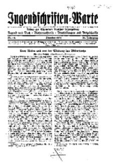 Jugendschriften-Warte : Beilage zur Allgemeinen Deutschen Lehrerzeitung, 36. Jg. 1931, Nr 10.