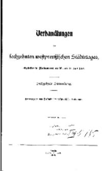 Verhandlungen des sechzehnten westpreussischen Städtetages, abgehalten in Marienwerder am 26. und 27. Juni 1908.