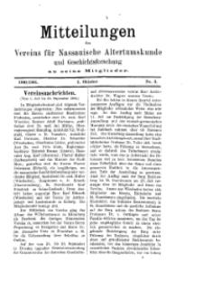 Mitteilunges des Vereins für Nassauische Altertumskunde und Geschichtsforschung an seine Mitglieder, 1900/1901, No. 3.