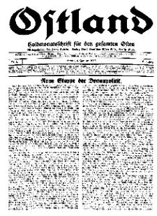 Ostland : Halbmonatsschrift für den gesamten Osten, Jg. 16, 1935, Nr 1.