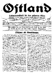 Ostland : Halbmonatsschrift für den gesamten Osten, Jg. 16, 1935, Nr 2.