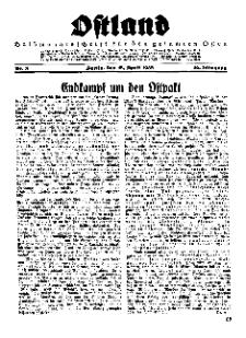 Ostland : Halbmonatsschrift für den gesamten Osten, Jg. 16, 1935, Nr 8.
