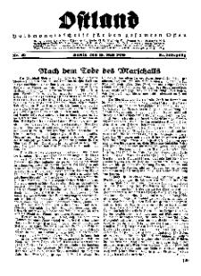 Ostland : Halbmonatsschrift für den gesamten Osten, Jg. 16, 1935, Nr 10.