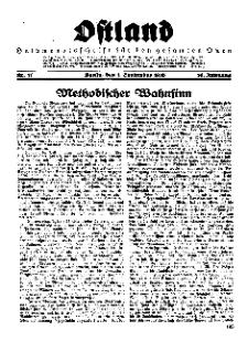 Ostland : Halbmonatsschrift für den gesamten Osten, Jg. 16, 1935, Nr 17.