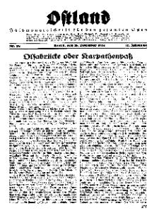 Ostland : Halbmonatsschrift für den gesamten Osten, Jg. 16, 1935, Nr 24.