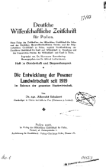 Deutsche wissenschaftliche Zeitschrift für Polen, 1928, H. 14.