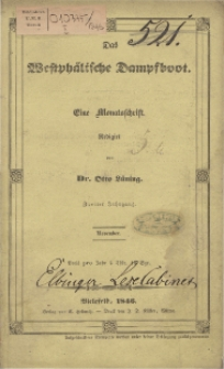 Das Westphälische Dampfboot : eine Monatsschrift, 2. Jg. 1846, [H. 11].