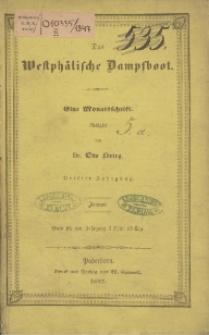 Das Westphälische Dampfboot : eine Monatsschrift, 3. Jg. 1847, [H. 1].