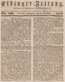 Elbinger Zeitung, No. 138 Donnerstag, 19. November 1846