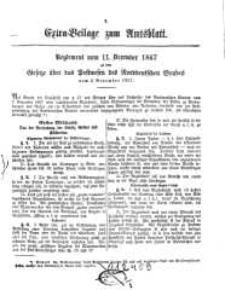 Extra-Beilage zum Amtsblatt, 1867-1869