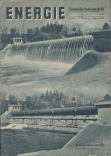 Energie - Technische Fachzeitschrift, 17. Jg. 1938, H. 8.