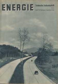 Energie - Technische Fachzeitschrift, 17. Jg. 1938, H. 9.