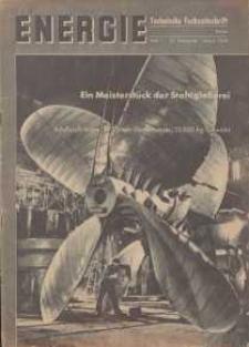 Energie - Technische Fachzeitschrift, 22. Jg. 1943, H. 1.