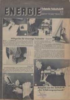 Energie - Technische Fachzeitschrift, 23. Jg. 1944, H. 9/10.
