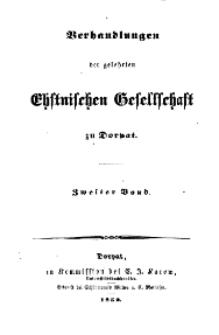 Verhandlungen der Gelehrten Estnischen Gesellschaft zu Dorpat, 1852, Bd. 2, H. 4.