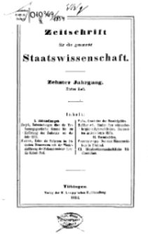 Zeitschrift für die gesammte Wissenschaft, 1854, H. 1.