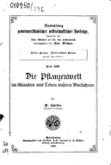 Die Pflanzenwelt im Glauben und Leben unserer Vorfahren, Jg. 1900. Seria 14. Heft 336