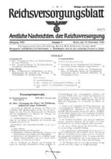 Reichsversorgungsblatt : Amtliche Nachrichten der Reichsversorgung, Jg.1943, Nr 9.