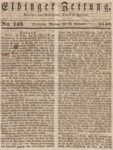 Elbinger Zeitung, No. 143 Montag, 30. November 1846