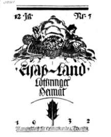 Elsaß-Land, Lothringer Heimat, 12. Jg. 1932, H. 7.