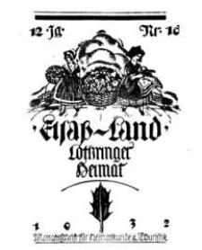 Elsaß-Land, Lothringer Heimat, 12. Jg. 1932, H. 10.