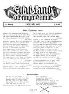 Elsaß-Land, Lothringer Heimat, 13. Jg. 1933, H. 1.