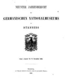Jahresbericht des Germanischen Nationalmuseum, 1862-1865, H. 9-12