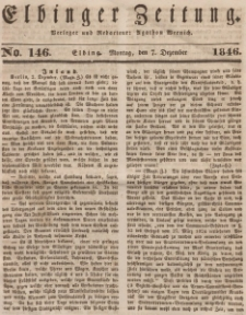 Elbinger Zeitung, No. 146 Montag, 7. Dezember 1846