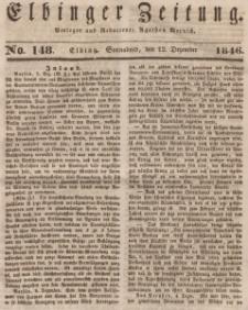 Elbinger Zeitung, No. 148 Sonnabend, 12. Dezember 1846