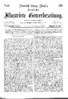 Deutsche Illustrirte Gewerbezeitung, 1868. Jahrg. XXXIII, nr 12.
