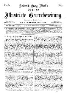 Deutsche Illustrirte Gewerbezeitung, 1868. Jahrg. XXXIII, nr 13.