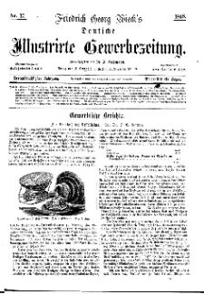 Deutsche Illustrirte Gewerbezeitung, 1868. Jahrg. XXXIII, nr 17.