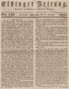 Elbinger Zeitung, No. 150 Donnerstag, 17. Dezember 1846