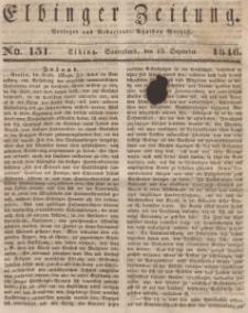 Elbinger Zeitung, No. 151 Sonnabend, 19. Dezember 1846