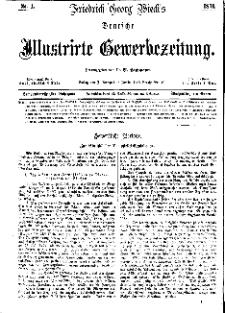 Deutsche Illustrirte Gewerbezeitung, 1871. Jahrg. XXXVI, nr 1.
