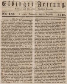 Elbinger Zeitung, No. 153 Donnerstag, 24. Dezember 1846