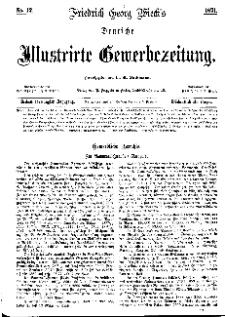 Deutsche Illustrirte Gewerbezeitung, 1871. Jahrg. XXXVI, nr 12.