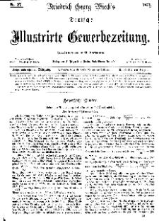 Deutsche Illustrirte Gewerbezeitung, 1871. Jahrg. XXXVI, nr 27.