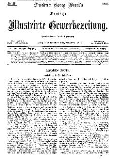 Deutsche Illustrirte Gewerbezeitung, 1871. Jahrg. XXXVI, nr 29.