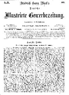 Deutsche Illustrirte Gewerbezeitung, 1871. Jahrg. XXXVI, nr 31.
