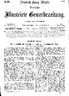 Deutsche Illustrirte Gewerbezeitung, 1871. Jahrg. XXXVI, nr 36.