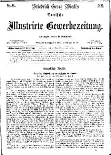 Deutsche Illustrirte Gewerbezeitung, 1871. Jahrg. XXXVI, nr 41.