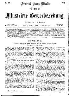 Deutsche Illustrirte Gewerbezeitung, 1871. Jahrg. XXXVI, nr 48.