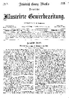 Deutsche Illustrirte Gewerbezeitung, 1872. Jahrg. XXXVII, nr 1.