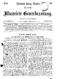 Deutsche Illustrirte Gewerbezeitung, 1872. Jahrg. XXXVII, nr 21.