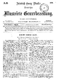 Deutsche Illustrirte Gewerbezeitung, 1872. Jahrg. XXXVII, nr 30.