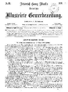 Deutsche Illustrirte Gewerbezeitung, 1872. Jahrg. XXXVII, nr 32.