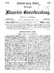 Deutsche Illustrirte Gewerbezeitung, 1872. Jahrg. XXXVII, nr 34.