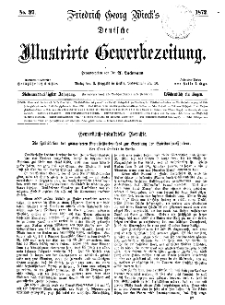 Deutsche Illustrirte Gewerbezeitung, 1872. Jahrg. XXXVII, nr 37.